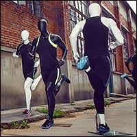 athletic running mannequins male or female 200