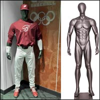 baseball player mannequin several poses 200