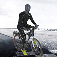 bicycle or motorcycle riding mannequin 200