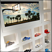 custom shoe display fixtures 200