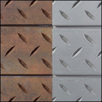 diamond plate metal textured slatwall 200