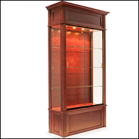 euro wall and trophy case for retail museum or luxury 200