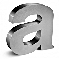 fabricated metal letters 200