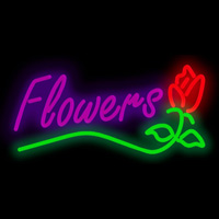 flowers neon signs 200