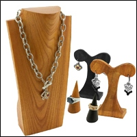 jewerly wooden displays