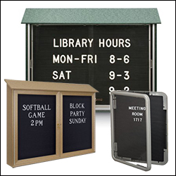 letterboards message centers for retail or govt museum 200