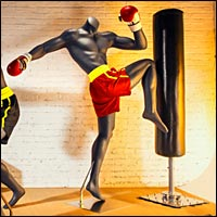 mma boxing display mannequin for studio or stores