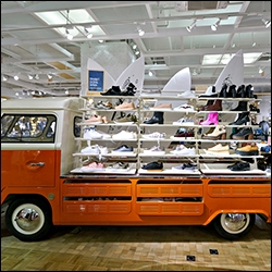mobile vehicles used as retail fixtures