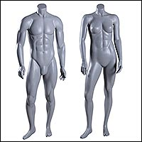 muscular athletic mannequins great shape male and female 200