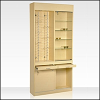 optical optometry retail store display floor tower case