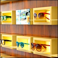 optical showcases for retail optometrist or sunglass store 200