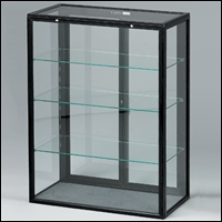 portable glass metal frame tower case 200