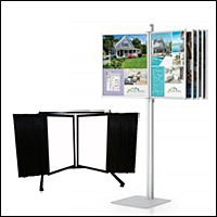 poster swing panel steel frames display 200