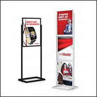 retail poster sign holder stands 200