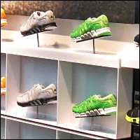 retail shoe steel metal displays and risers 200