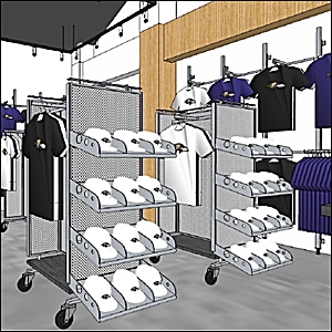 retail store fixture and racks renderings and design gallery 300