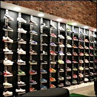 slatstrip shoe displays for wall 200