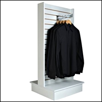 slatwall 2 sided T unit display for retail 201