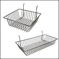 slatwall steel wire baskets 201