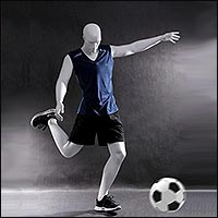 soccer playing mannequin with multiple poses 200