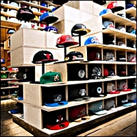 sports retail hat displayers 200 5