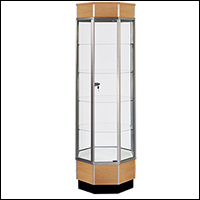standard tall tower display cases 200