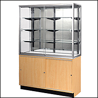standard wall cases with lower storage options 200