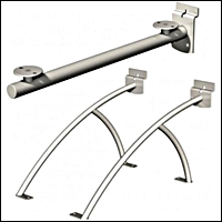 urban contemporary slatwall shelf brackets