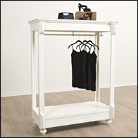 vintage low clothing rack armoire style 200