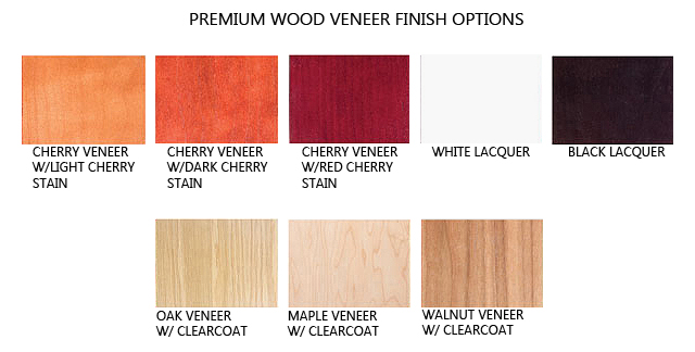 Euro Wood Veneered Trophy Wall Case With Crown Molding Multiple Finish Options Red 3 Display
