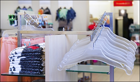 clear white retail plastic hangers header