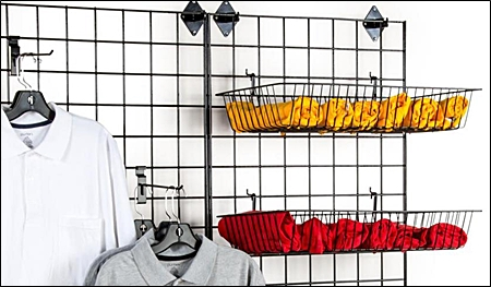 gridwall accessories baskets header