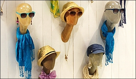 retail mannequin head display header
