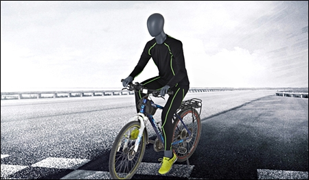 mannequin on top of bicycle riding pose header