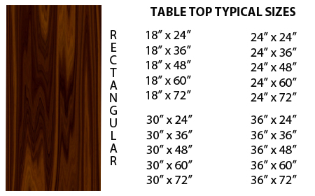 rectangular custom fabricated tables for retail and restaurants 01