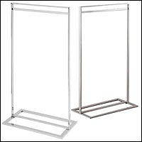 retail single bar clothing racks multiple finish options header