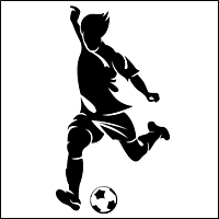 soccer silhouettes for retail signage 200 5