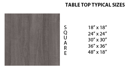 square custom fabricated tables for retail and restaurants 01