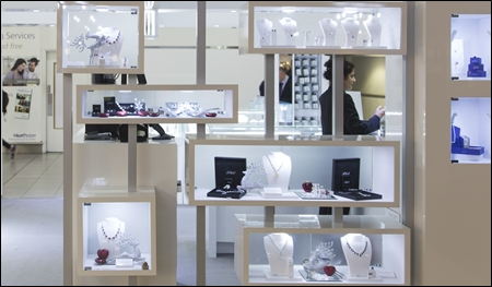 white leatherette jewelry displays header
