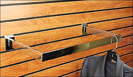 wood veneer slatwall header